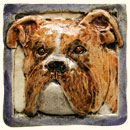 Boxer dog tile