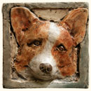 Corgi dog tile