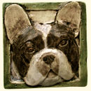 French Bulldog dog tile