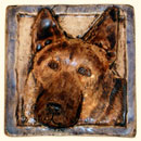 German Shepherd dog tile