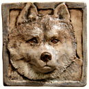 Husky dog tile