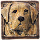 Labrador dog tile