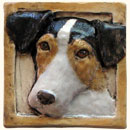 Jack Russell dog tile