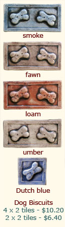 Dog biscuit tiles
