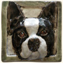 Boston Terrier dog tile