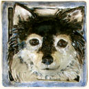 Long Haired Chihuahua Dog Tile