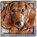 Dachshund dog tile