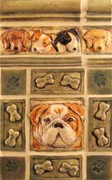 Dog tile installation