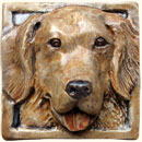 Golden Retriever dog tile