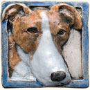 Greyhound dog tile
