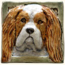 King Charles dog tile