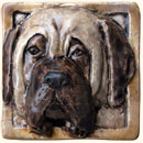 Mastiff dog tile