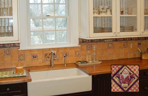 and kitchen backsplash tile installation handmade decorative art tile